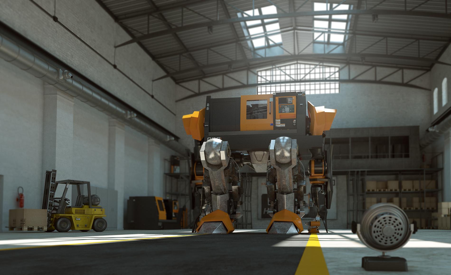 3d animation transformer CNC