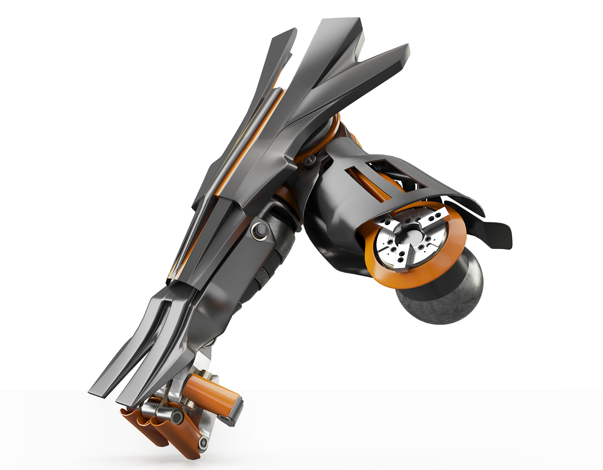 3d robot model hand