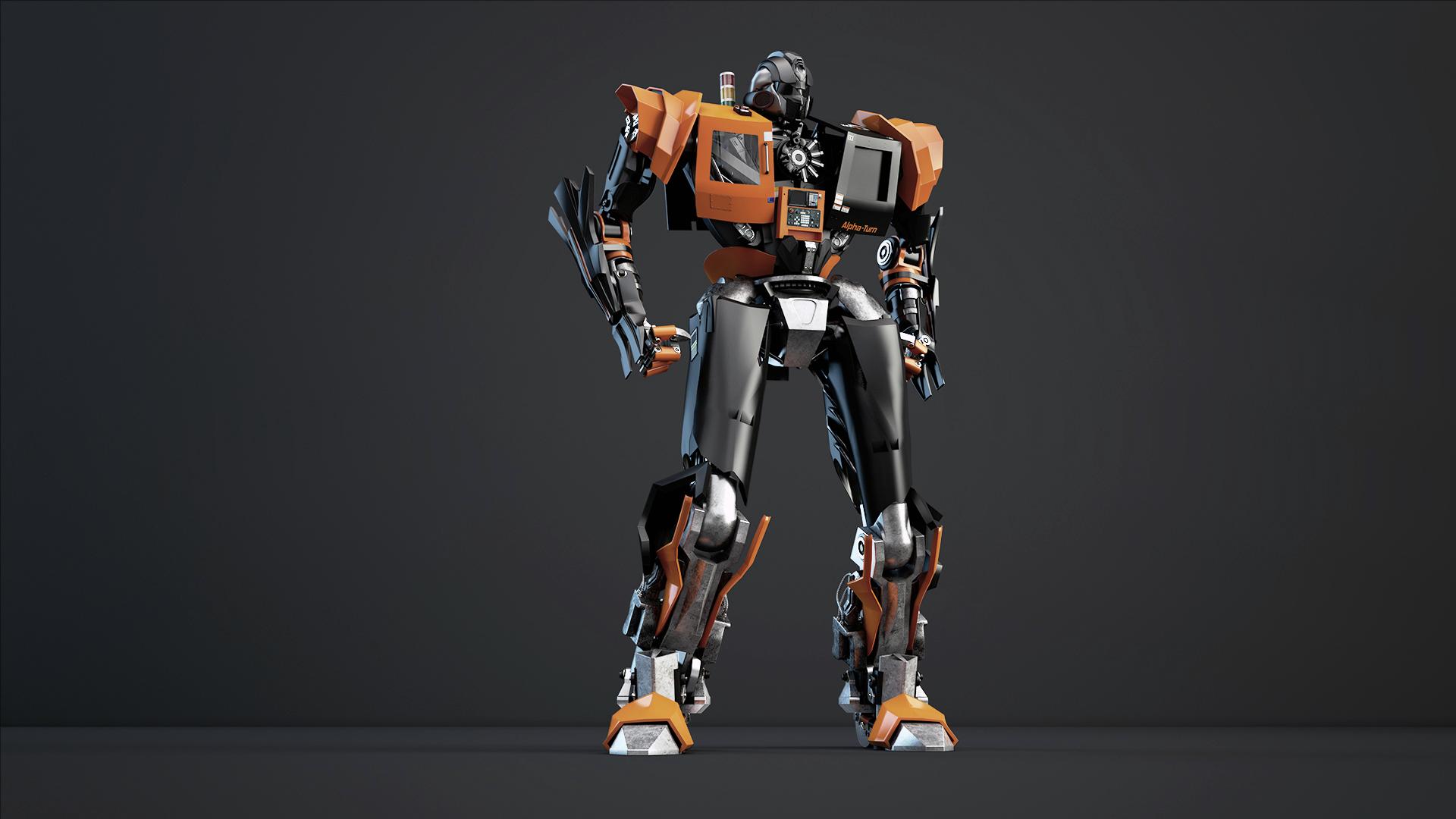 Robot CNC 3d model