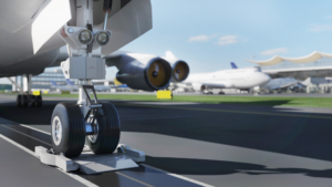 aircraft towing system cgi render