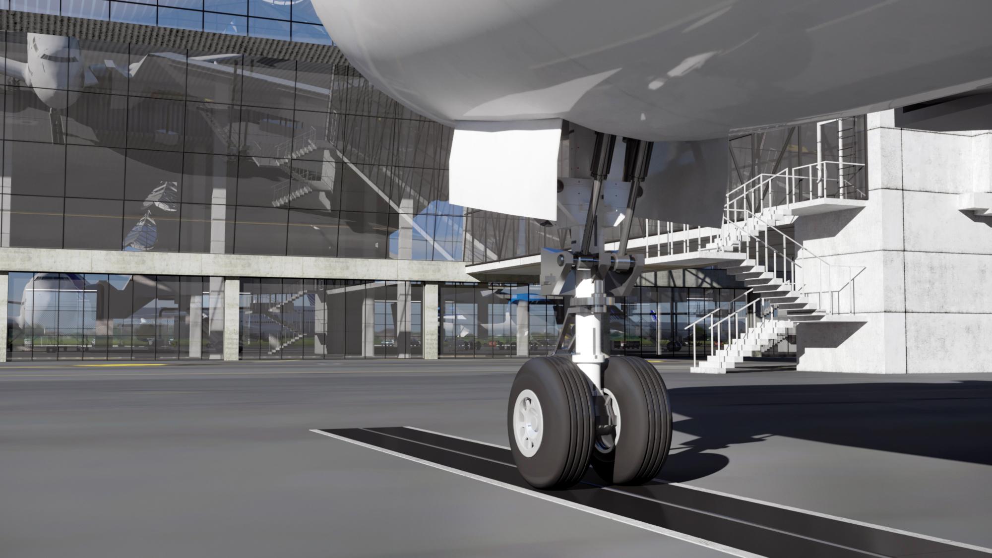 lotnisko wizualizacja