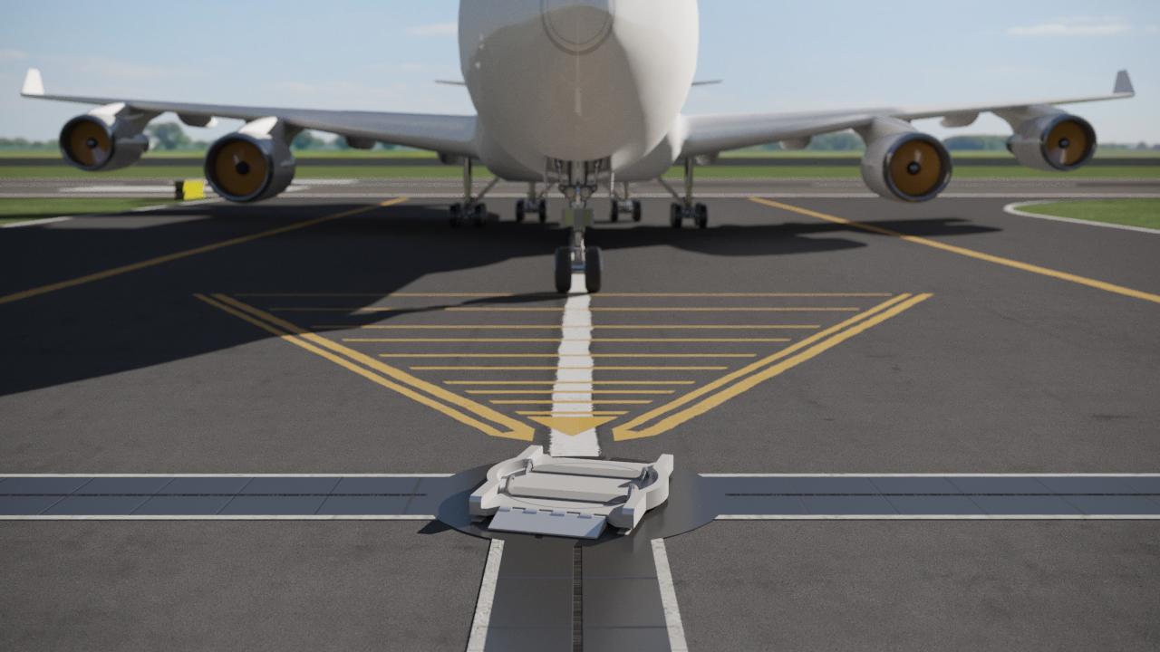 naprowadzenie samolotu 3d render