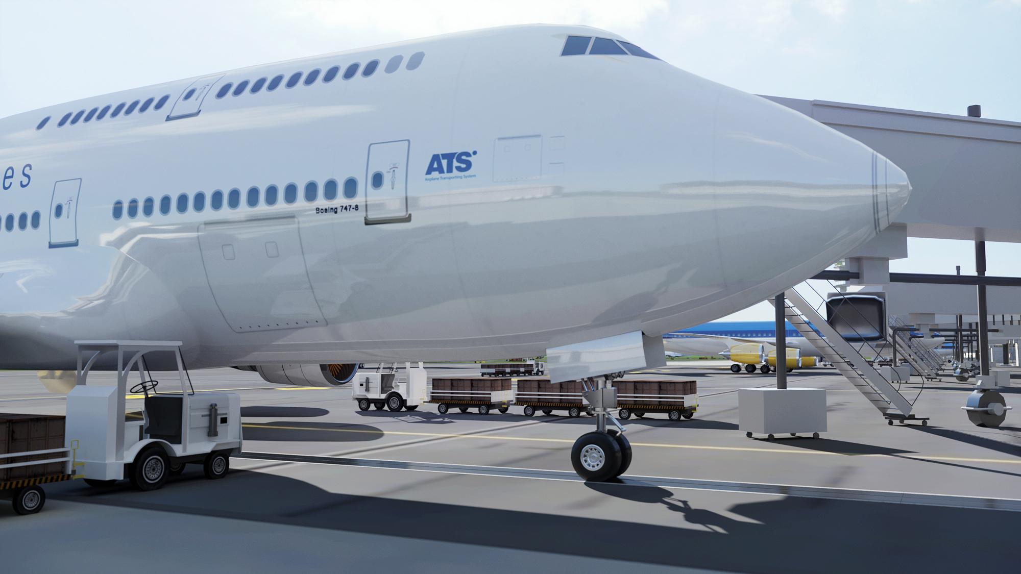 wizualizacja samolotu terminal